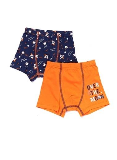 Dagi Uzay Erkek Çocuk 2'li Boxer Oranj